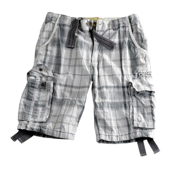 Alpha Industries JET 2 Shorts, grey checked 40 inches