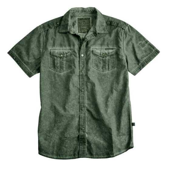 Alpha Industries Coal Dyed Shirt, olive