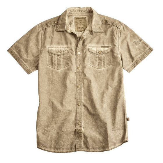 Alpha Industries Coal Dyed Shirt, wsh. khaki L