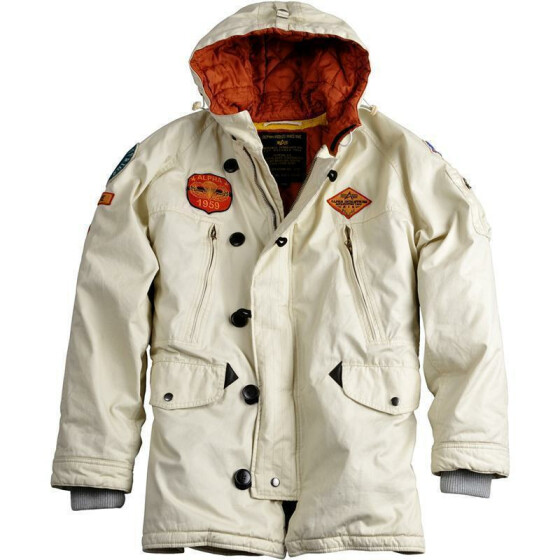 Alpha Industries Airborne Hood Parka, off white