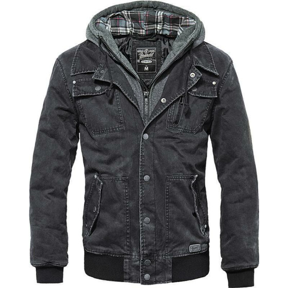 BRANDIT Dayton Jacket, schwarz washed M
