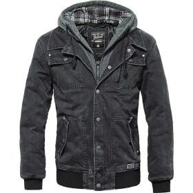 BRANDIT Dayton Jacket, schwarz washed