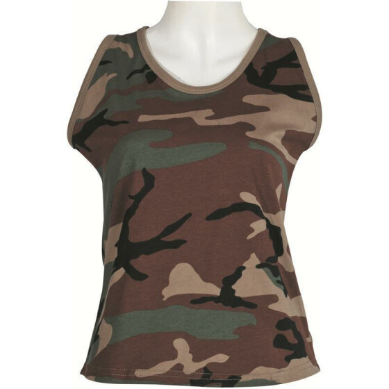 MFH US Tank Top, Damen, woodland