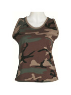 MFH US Tank Top, Damen, woodland M