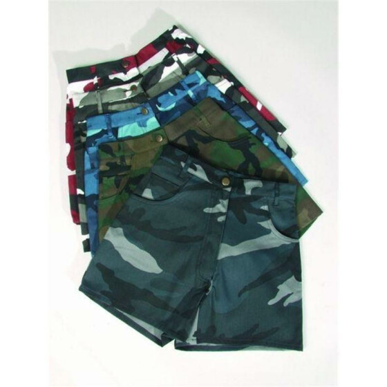 MILTEC SHORTS DAMEN, red camo 36