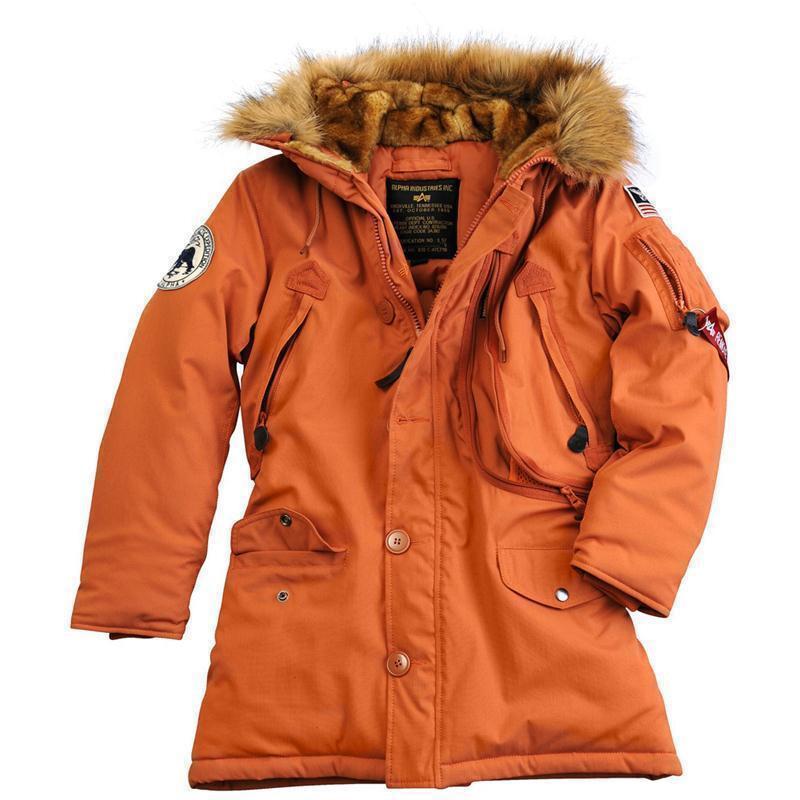 alpha industries polar jacket wmn damen burned orange. Black Bedroom Furniture Sets. Home Design Ideas