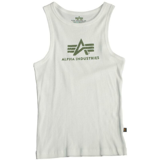 Alpha Industries  LOGO TANK, white-olive