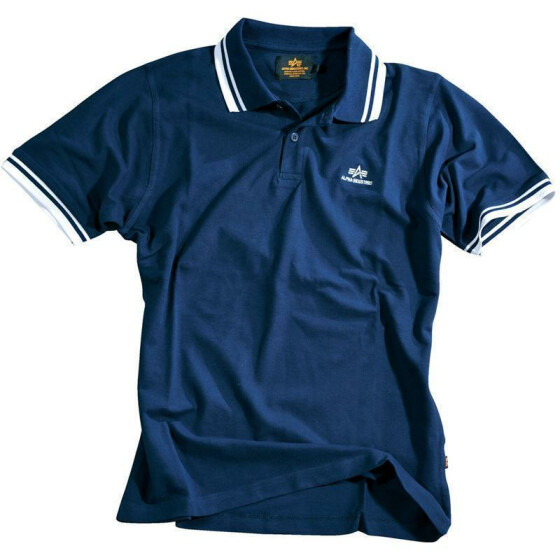 Alpha Industries Polo, navy-white