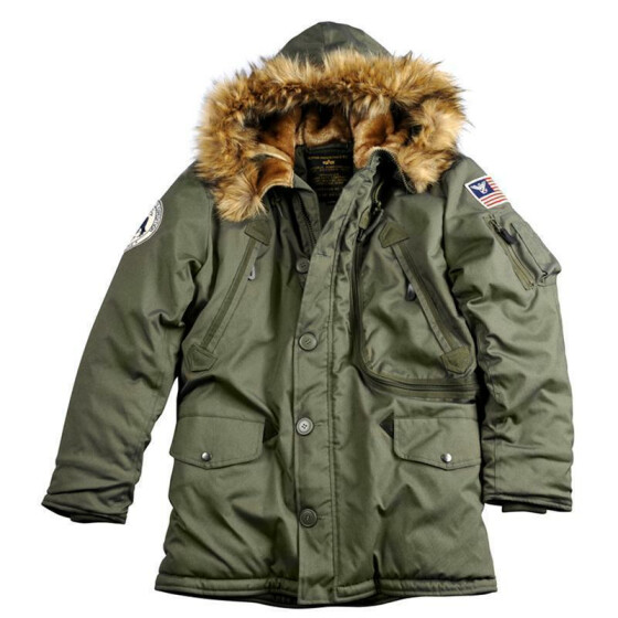 Alpha Industries  POLAR JACKET, dark green XL