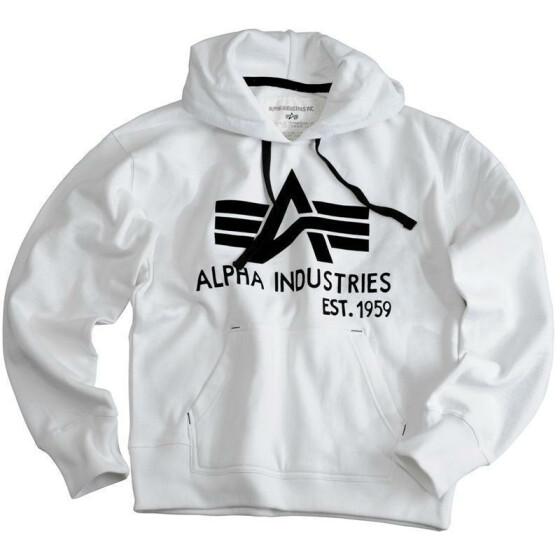Alpha Industries  Big A Classic Hoody, white XXL