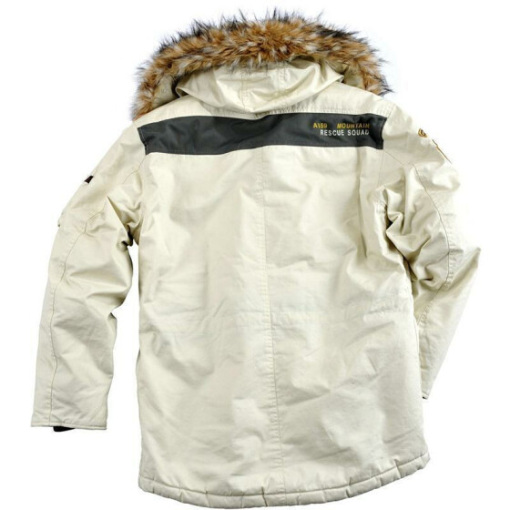 Alpha Industries   Mountain Parka, off white