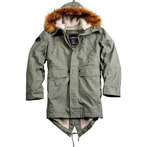 Alpha Industries Hooded Fishtail III, olive