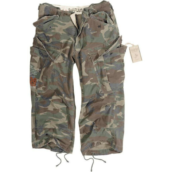SURPLUS Engineer Vintage 3/4-Pants, woodland gewaschen XS / 80 cm