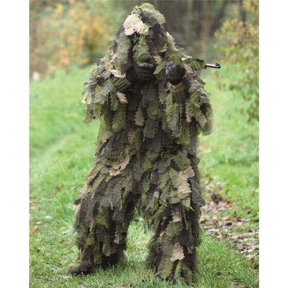 MILTEC Ghillie, OAK LEAF 3D, woodland 2