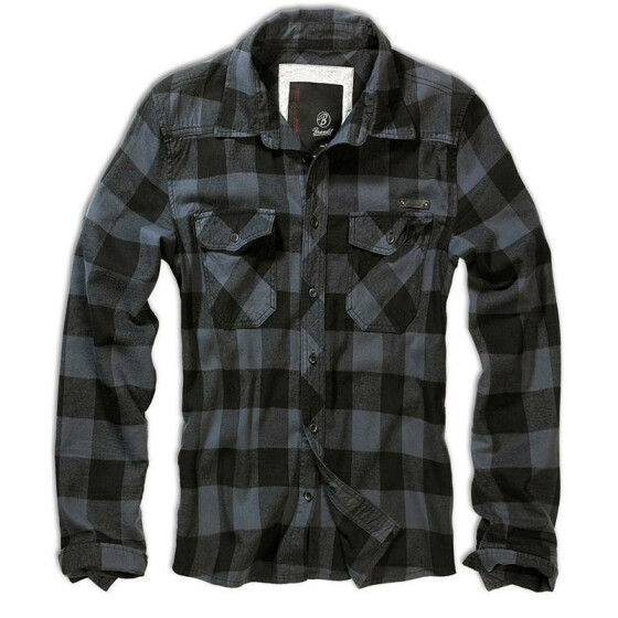 BRANDIT Check Shirt, black-grey XL