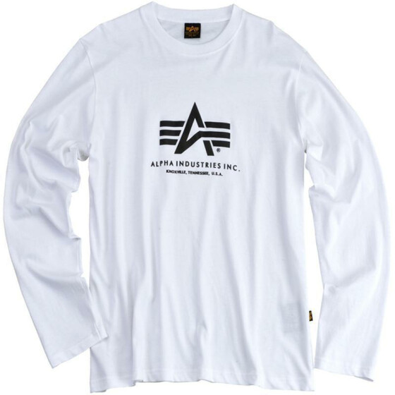 Alpha Industries BASIC T LS, white S