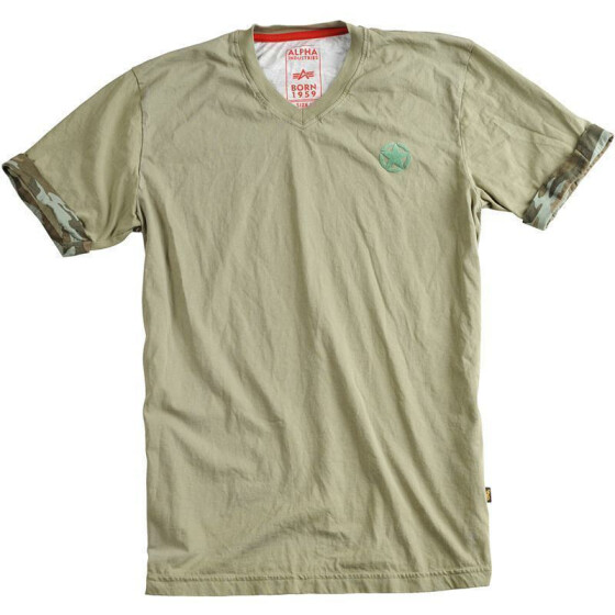 Alpha Industries Camo Back T, olive 3XL