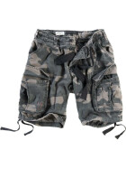 SURPLUS Airborne Vintage Shorts, black camo M