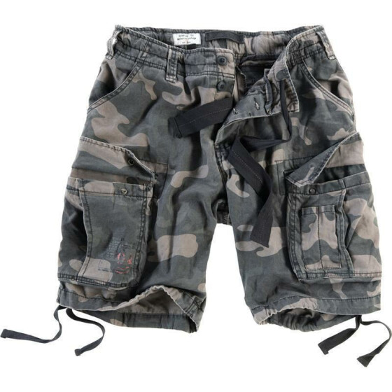 SURPLUS Airborne Vintage Shorts, black camo L