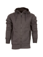 LIFE LINE George Mens Fleece Jacket, dunkelgrau 4XL