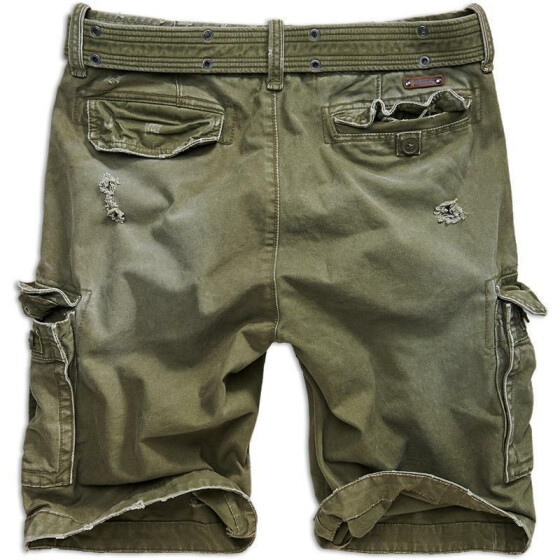 BRANDIT Shell Valley Heavy Vintage Shorts, oliv S