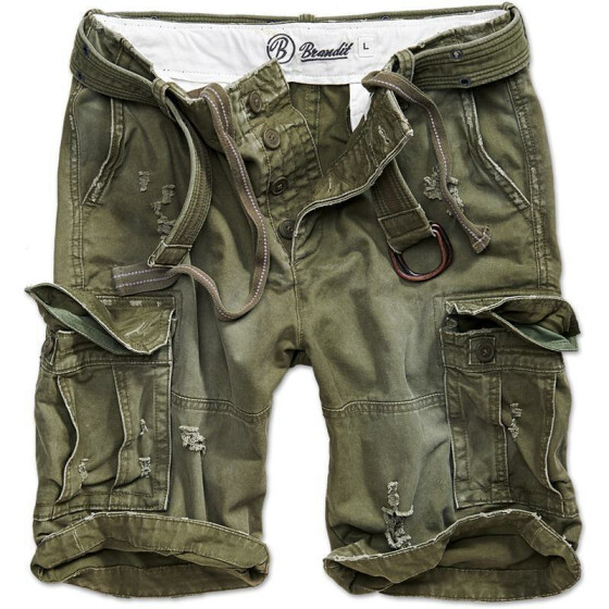 BRANDIT Shell Valley Heavy Vintage Shorts, oliv XL