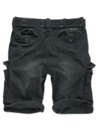 BRANDIT Shell Valley Heavy Vintage Shorts, schwarz S