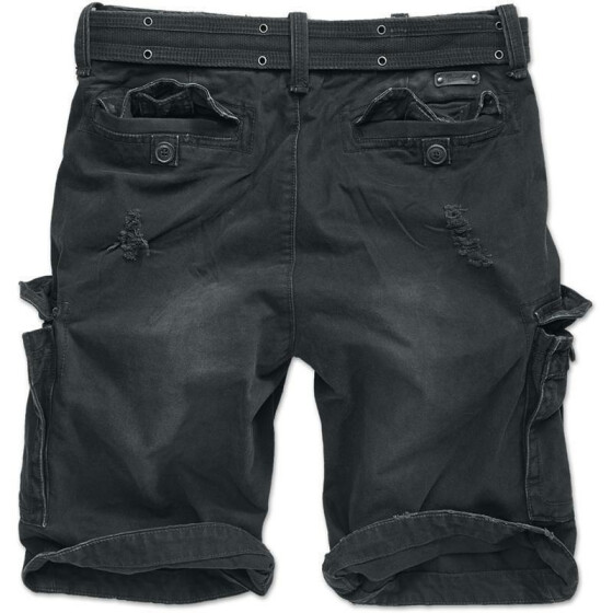 BRANDIT Shell Valley Heavy Vintage Shorts, schwarz M