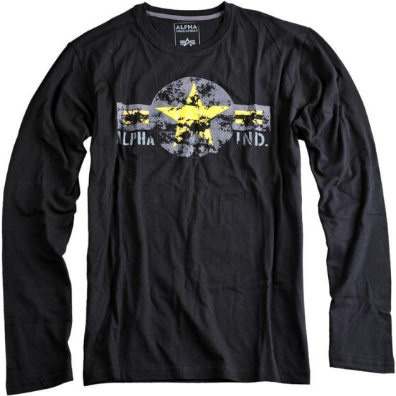 Alpha Industries USAF LS, black-yellow