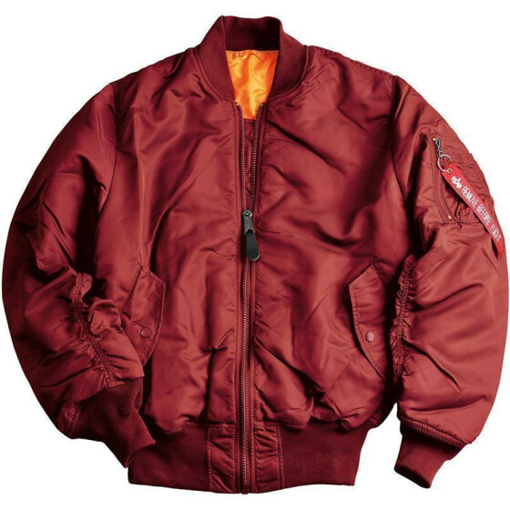 Alpha Industries  US Pilotenjacke MA-1, burgundy