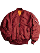 Alpha Industries  US Pilotenjacke MA-1, burgundy XS