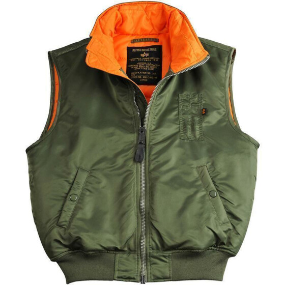 Alpha Industries MA-1 Vest, sage green