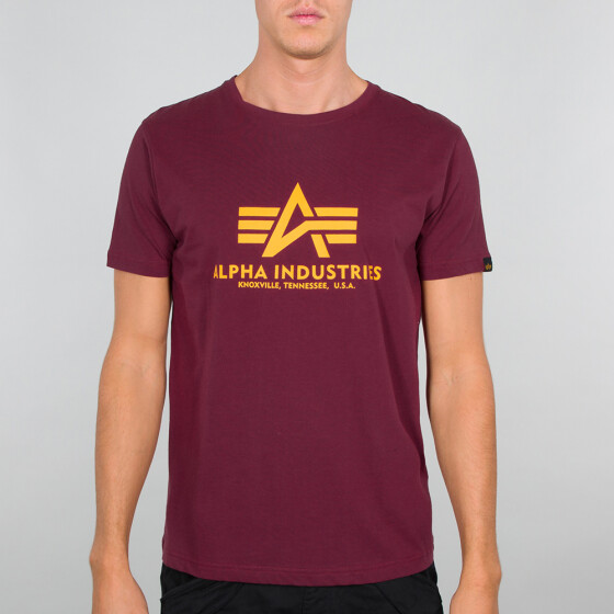 Alpha Industries  BASIC T, burgundy L