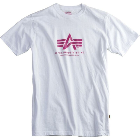 Alpha Industries BASIC T, white-lilac