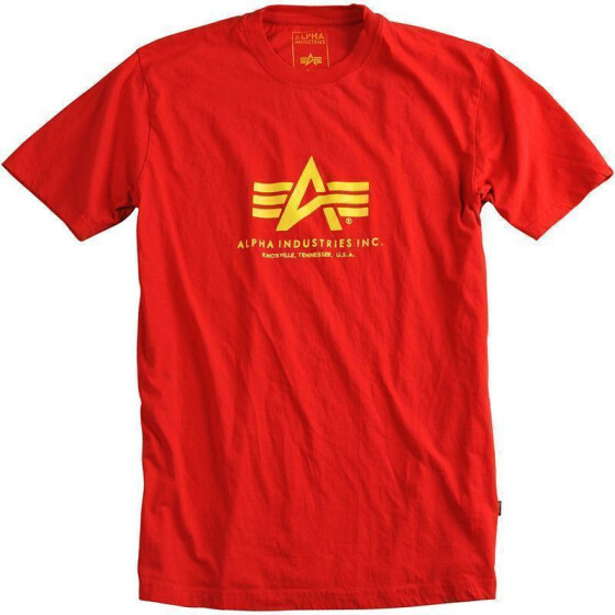 Alpha Industries BASIC T, speed red 3XL