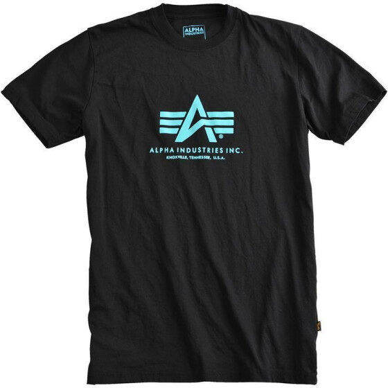 Alpha Industries  BASIC T, black-blue XXL