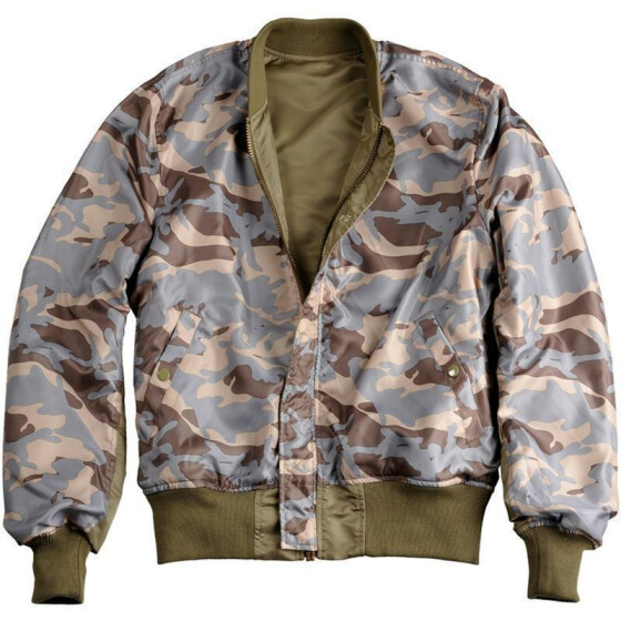 Alpha Industries  MA-1 VF Rev Camo, stratos