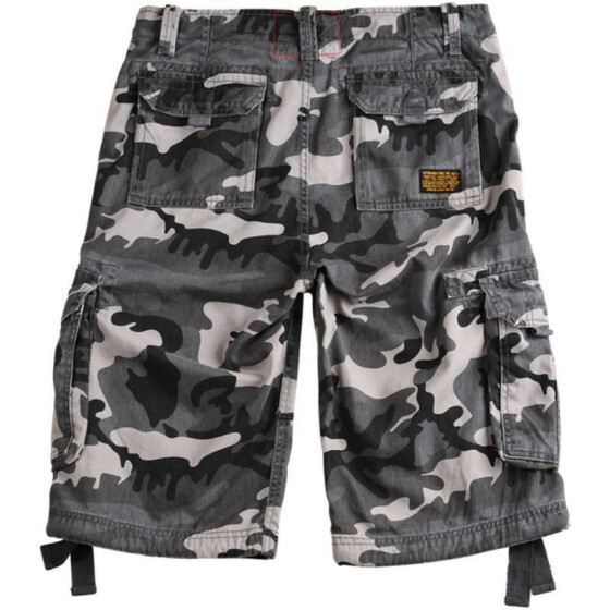 Alpha Industries  JET Shorts, black camo 36 inches