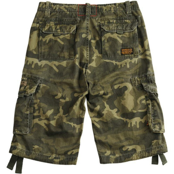 Alpha Industries  JET Shorts, olive camo 28 inches