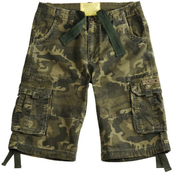 Alpha Industries  JET Shorts, olive camo 29 inches