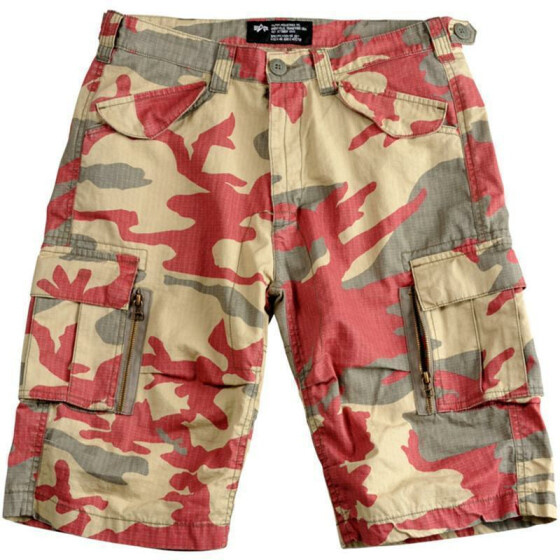 Alpha Industries Patrol Short, olive-redcamo