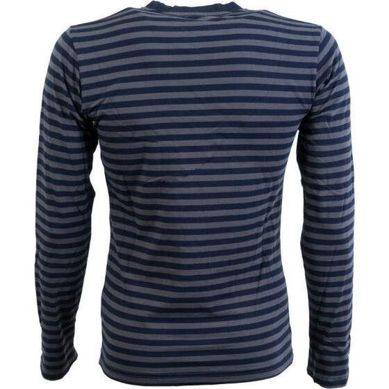 MFH Langarm-Shirt, PT, gestreift, grey-blue L