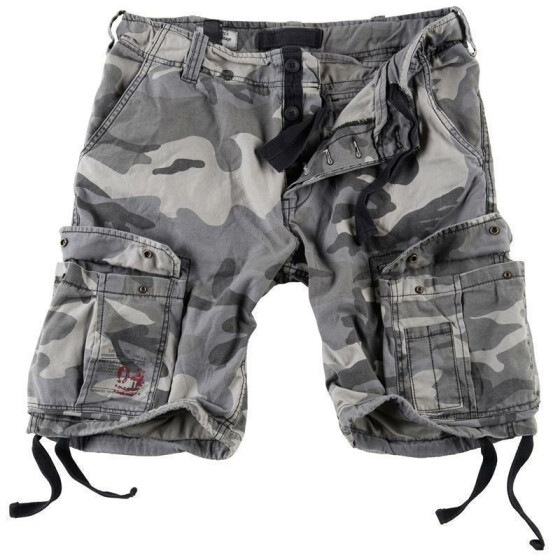 SURPLUS Airborne Vintage Shorts, night camo M
