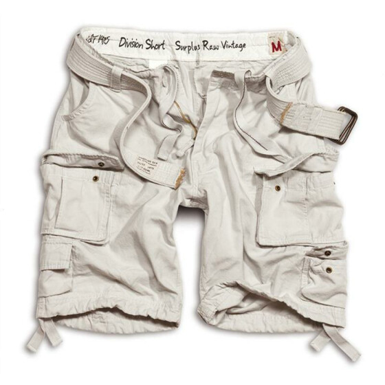 SURPLUS Division Short, white 6XL - 122 cm