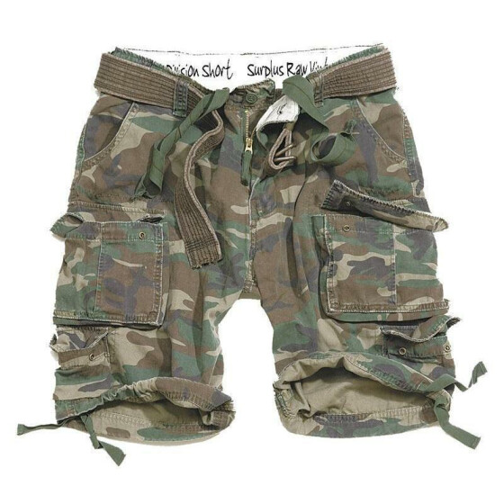 SURPLUS Division Short, woodland 6XL - 122 cm