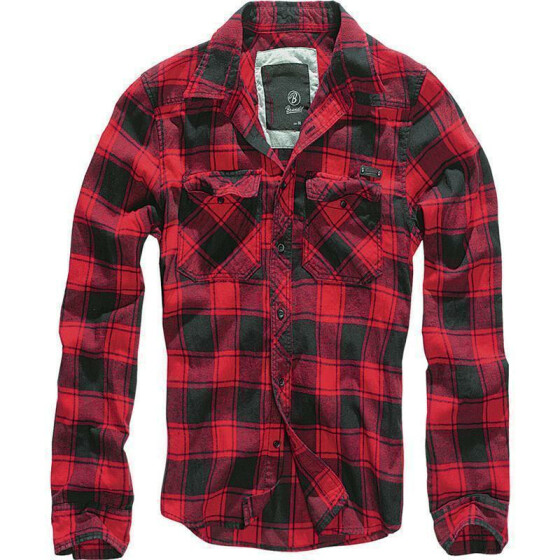 BRANDIT Check Shirt, red-black 4XL