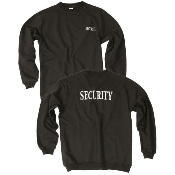 MILTEC Pullover SECURITY, schwarz XXL