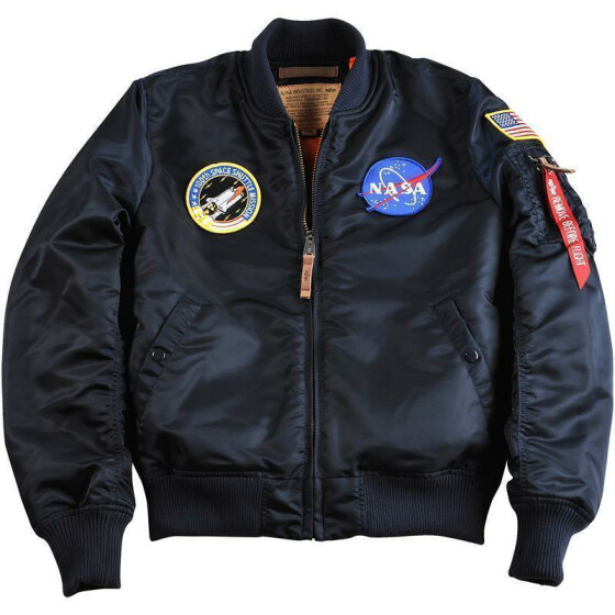 Alpha Industries MA-1 VF NASA, rep. blue L