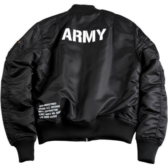 Alpha Industries MA-1 VF ARMY, black