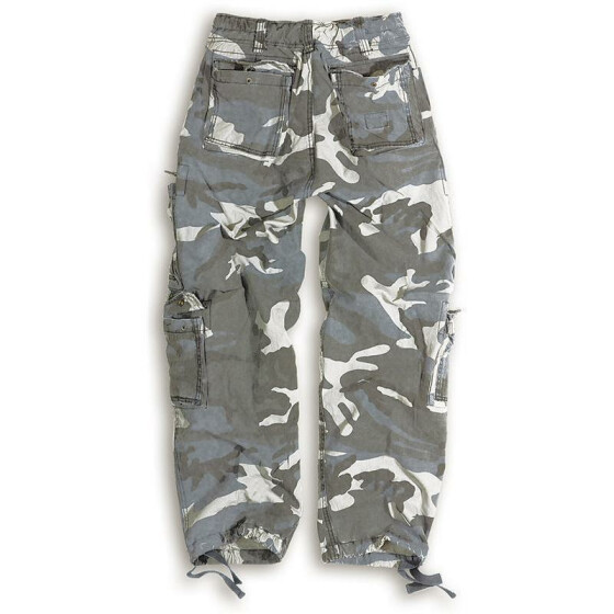 SURPLUS Airborne Vintage Trouser, stonewashed, night camo 4XL / 115 cm